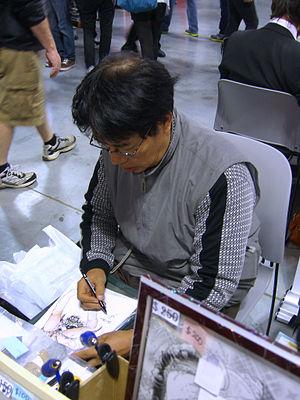 Toshio Maeda - Maeda sketching at the 2012 New York Comic Con.