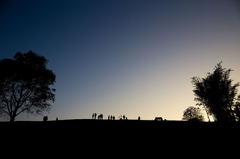 Silhouettes of trees and people camping at Doi Samoe Dao, Si Nan National Park, Nan Province, by Piith.hant #10