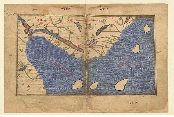 1154 Tabula Rogeriana noroeste Peninsula Iberica Al Idrisi copia mas antigua