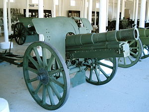122 mm howitzer M1909/37 - 122 mm howitzer M1909/37 in Hämeenlinna Artillery Museum.