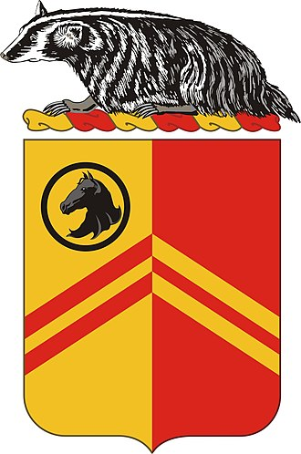 105th Cavalry Regiment - Image: 126FARegt COA