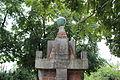 13.Ondřejov pomník padlým detail vrcholu pomníku s letopočtem MCMXIV čelní pohed z úrovně trávníku.JPG