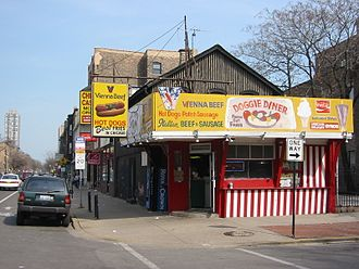 Chicago-style hot dog - Hot Dog establishment in Chicago in 2003