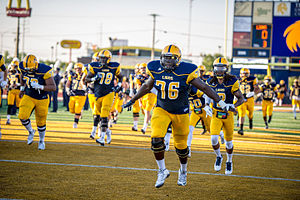 Texas A&M–Commerce Lions football - The 2015 team before playing the Adams State Grizzlies