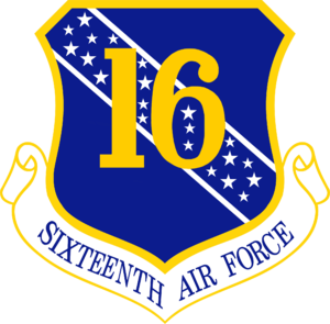16th Air Expeditionary Task Force - Emblem of Sixteenth Air Force, (1954–2006)