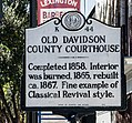 1858 Davidson County Courthouse (North Carolina) historical marker.jpg