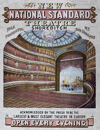 Shoreditch - 1867 Poster from the National Standard Theatre
