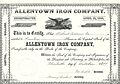 1877 - Allentown Iron Company Stock Certificate Allentown PA.jpg