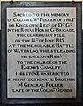 18 June 1815 – Waterloo – St Joseph's Church, Tablet Left, 12.jpg