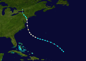 1903 New Jersey hurricane - Image: 1903 Atlantic hurricane 4 track