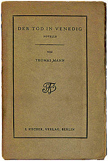 <i>Death in Venice</i> novella by Thomas Mann