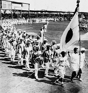Far Eastern Championship Games - The Japanese delegation at the 1927 Far Eastern Games