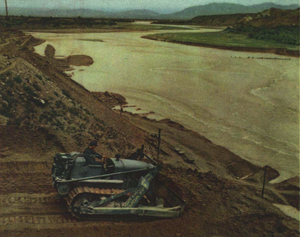 Yongding River - Guanting Reservoir under construction in 1952