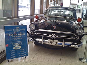 History of the Houston Police Department - A 1952 Ford Customline patrol car that was used by the Houston Police Department
