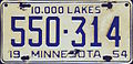 1954 Minnesota license plate.JPG