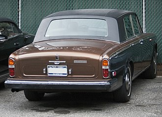 Rolls-Royce Silver Shadow - The smaller, more formal rear window of the Silver Wraith II