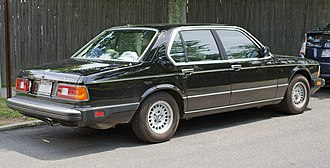 BMW 7 Series (E23) - 1984 BMW 733i with US bumpers