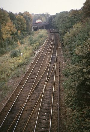 Berlin–Szczecin railway - A section of the line in 1986