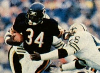 Walter Payton NFL Man of the Year Award - Image: 1986 Jeno's Pizza 12 Walter Payton (Walter Payton crop)