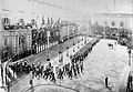 1st Battalion, King's Own Royal Lancaster Regiment, marching in Palace Square, Malta, 1902.jpg