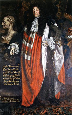 John Manners, 1st Duke of Rutland - John Manners, the 9th Earl of Rutland and the 1st Duke of Rutland, oil by Johann Closterman, 1679, Belvoir Castle