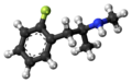 2-Fluoromethamphetamine molecule ball.png