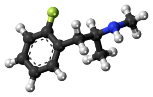 2-Fluoromethamphetamine - Image: 2 Fluoromethamphetamin e molecule ball