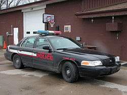 A Pioneer police cruiser