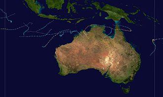 2004–05 Australian region cyclone season - Image: 2004 2005 Australian cyclone season summary