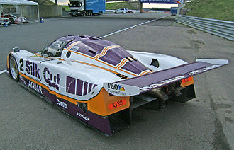 Jaguar XJR-9 - Rear three-quarter view of the 1988 Le Mans-winning XJR-9.