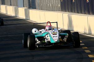 Keisuke Kunimoto - Keisuke Kunimoto driving the Dallara F308 TOM'S Toyota in the 2008 Macau Grand Prix.