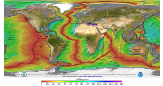 Geophysics - Age of the sea floor. Much of the dating information comes from magnetic anomalies.