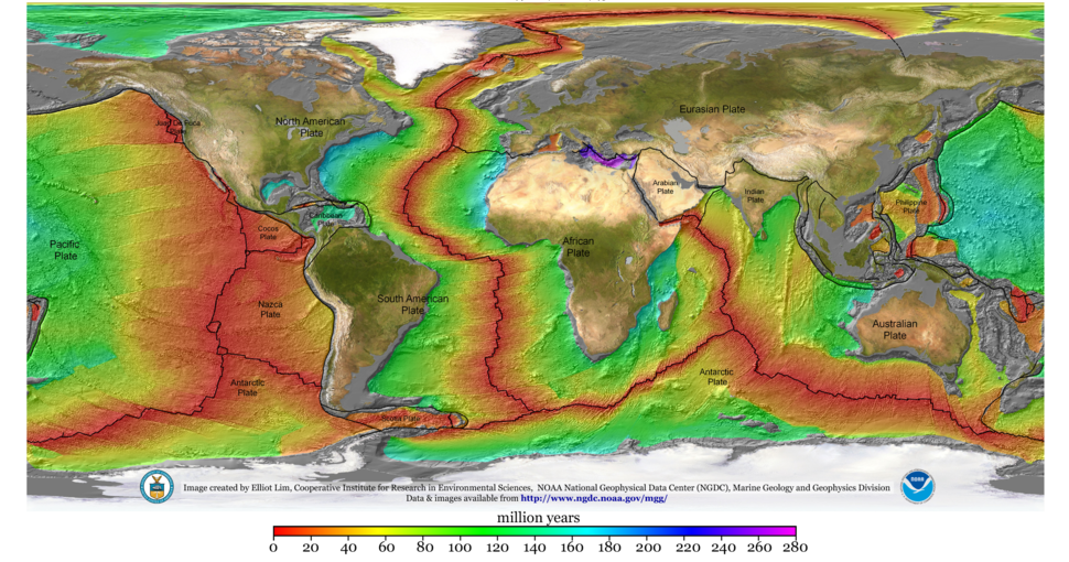2008 age of ocean plates