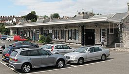 2009 at Teignmouth station - forecourt.jpg