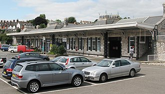 Teignmouth railway station - Image: 2009 at Teignmouth station forecourt