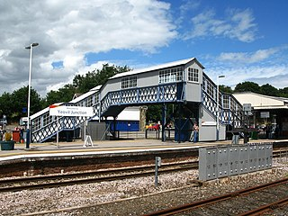 Yeovil Junction railway station Railway station in Yeovil, England