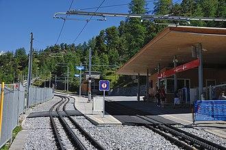 Riffelalp railway station - Image: 2012 08 17 14 47 42 Switzerland Canton du Valais Blatten