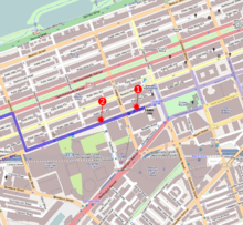 e6e1c5c985db4 The blasts (red) occurred along the marathon course (dark blue)