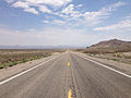2014-07-17 13 03 07 View east along U.S. Route 6 about 3.7 miles east of the Esmeralda County Line in Tonopah, Nevada.JPG