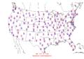 2014-10-11 Max-min Temperature Map NOAA.png