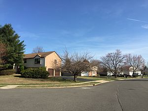 Briarcrest, New Jersey - Homes along Colleen Circle in the Briarcrest section of Ewing, New Jersey