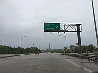 2015-05-11 10 30 37 View south along Illinois Route 7 at the entrance to Interstate 80 eastbound in Joliet, Illinois.jpg
