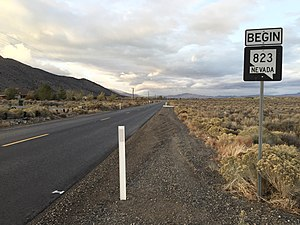 Nevada State Route 823 - View at the south end of SR 823 looking northbound