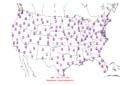 2015-10-30 Max-min Temperature Map NOAA.png
