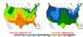 2016-04-24 Color Max-min Temperature Map NOAA.png