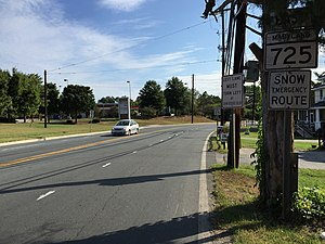 Maryland Route 725 - View east at the west end of MD 725 at Brown Station Road in Upper Marlboro