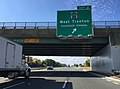 2017-10-06 10 40 18 View south along Interstate 95 at Exit 2 (Mercer County Route 579, West Trenton, Passenger Terminal) in Ewing Township, Mercer County, New Jersey.jpg