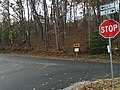 2017-11-06 14 56 01 The intersection of Birdfoot Lane (Virginia State Secondary Route 671) and Stuart Mill Road (Virginia State Secondary Route 669) in Reston, Fairfax County, Virginia.jpg