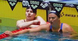 2018 Russian Nationals - 100m breast W final - Astashkina and Simonova after finish.jpg