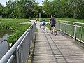 2019-05-19 (385) Bicycles over little bridge ober old Danube arm in Emmersdorf an der Donau, Austria.jpg